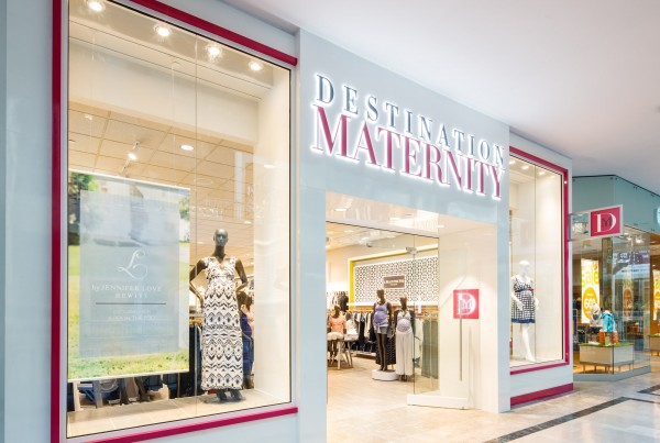Destination Maternity store Destination Maternity retail mall interior fit out storefront Bridgewater, NJ