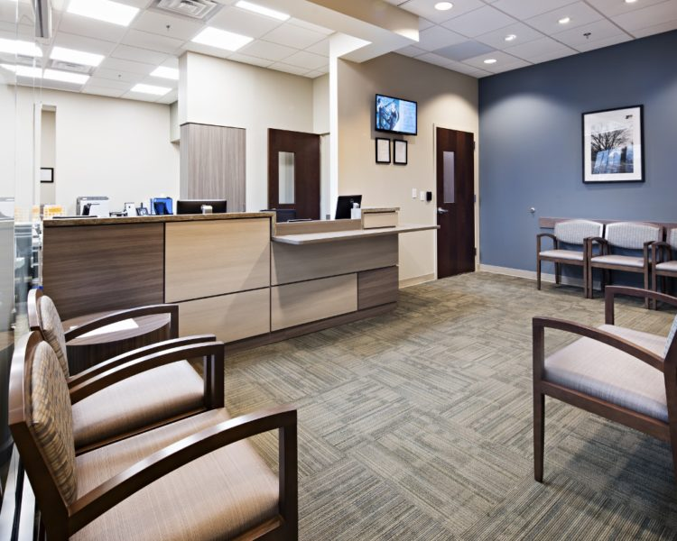 Phelps medical office interior design build the bannett for Interior design medical office